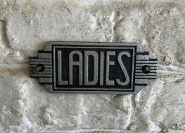 Art Deco Ladies sign