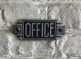 Art Deco Office sign