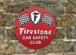 Firestone car safety plaque