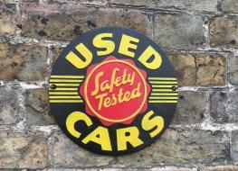 Used cars plaque
