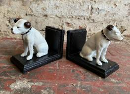 Nipper dog bookends