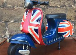 model Vespa scooter