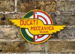winged Ducati wall plaque