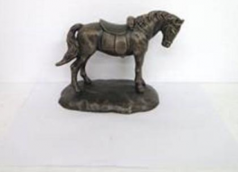 Horse figure with saddle