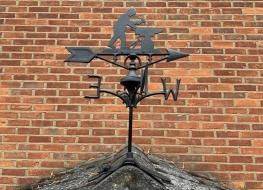 Blacksmith weather vane -ridge