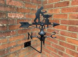 Blacksmith weather vane -wall