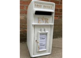 White Royal Mail post box