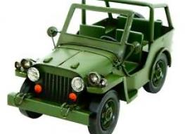 Tinplate model army jeep