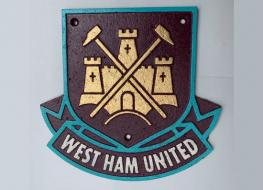 Gold West Ham plaque