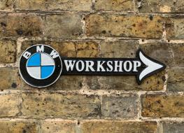 BMW workshop arrow plaque