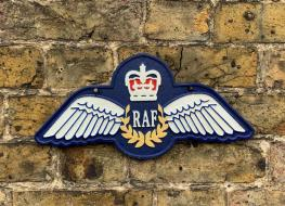 RAF wings plaque