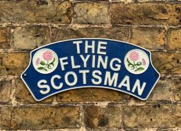 Flying Scotsman thistle plaque