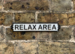 Relax area sign