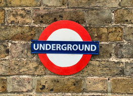 large London underground plaque