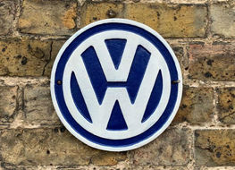 Blue & white VW plaque