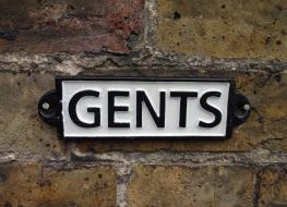 Rectangular Gents sign