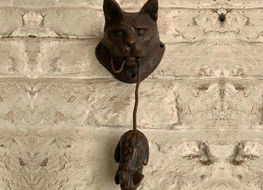 Cat & mouse door knocker