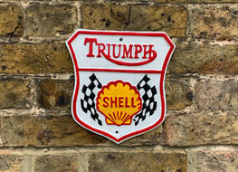 Shell & Triumph plaque