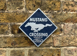 Ford Mustang crossing plaque