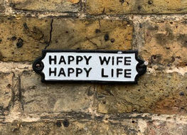 happy wife plaque