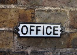 Rectangular Office sign