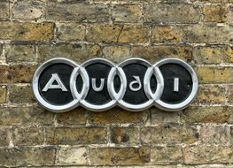 large Audi rings plaque
